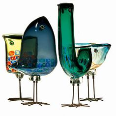 Pulcini by Alessandro Pianon/Vistosi, circa 1960.  My absolute favorite objects!  If I only had the money!!