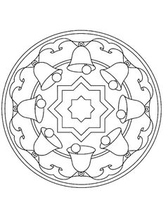 christmas mandala coloring page for kids (2) | Crafts and Worksheets for Preschool,Toddler and Kindergarten