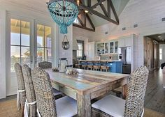 Breakfast Nook Table And Chairs Beach Houses 67 Ideas For 2019 Beach Dining Room, Dining Room Table, Patio Dining, Dining Rooms, Dining Area, Porches, Breakfast Nook Table, Coastal Bedrooms, Coastal Living