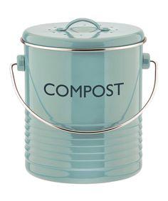 Look at this #zulilyfind! Blue Compost Caddy by Typhoon #zulilyfinds