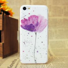 Hot Exquisite Design Flower Pattern Relief Hard Phone Case for iPhone 5c Matte case for cell phone