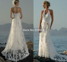 Find More Wedding Dresses Information about Sexy Halter Beach Wedding Dresses V Neck A line Short Tail Zipper Bridal Wedding Dress Lace Vintage Bridal Gown,High Quality gown uk,China gown cover Suppliers, Cheap lace up back wedding gown from Rosemary Bridal Dress on Aliexpress.com
