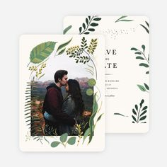 Rustic Forest Save the Date Cards from Paper Culture Forest Wedding Invitations, Save The Date Invitations, Wedding Invitation Suite, Save The Date Cards, Indian Wedding Cards, Card Box Wedding, Save The Date Illustrations, Rustic Forest Wedding, Paper Culture