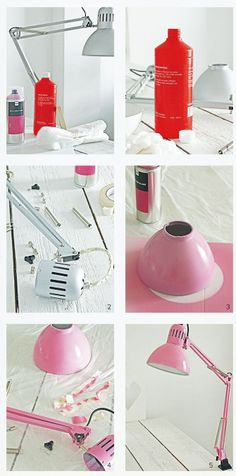Painted lamp