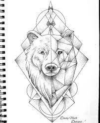 Resultado de imagem para geometric bear tattoo #NeatTattoosIWouldHave