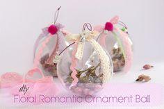 DIY Floral Romantic Ornament Ball!!!