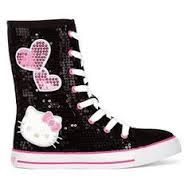 Image result for hello kitty shoes high heels for kids