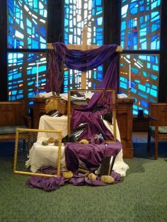 """Art installation for Lent """"Reflections of a broken self"""" St Peter UCC, Lake Zurich IL"""