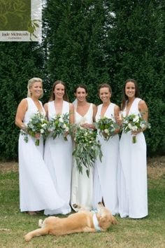 Fresh and simple. Georgia and her girls with their natural and organic bouquets. www.jademcintoshflowers.com.au