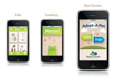 Adopt-A-Pet App by Joyanna Hirst, via Behance