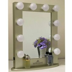 Our Stunning Golden Hollywood Classic Vanity Mirror (Large ) . Visit us at www.ImpressionsVanity.com for more details and colors. #vanitymirror #vanitylights