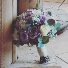 "Passion For Flowers (@passionforflowers) on Instagram: ""Fab #bridalbouquet for a #fab #bride from last weekend 💐#weddingday #roses"" lilac roses, Ivory roses, eucalyptus, brides bouquet liverpool"