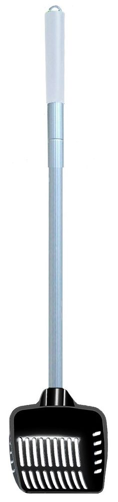 Cats Rule Stand Up and Scoop Telescoping Litter Scoop, Black and White >>> Check out the image by visiting the link.
