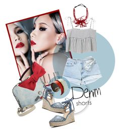 """Denim Shorts"" by kari-c ❤ liked on Polyvore featuring MANGO, Circus By Sam Edelman, MICHAEL Michael Kors, Chicnova Fashion, Brunello Cucinelli, Porsche, jeanshorts, denimshorts and cutoffs"