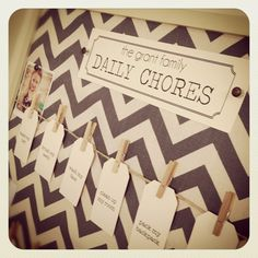 DIY daily chore board by The Daily Five