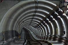 Munich subway tunnel; photographed by Robert Gotzfried