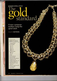 """Necklace """"Gold"""" - 1  I made this with pearls and gold and skipped the pendant"""