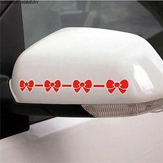mooie strik achteruitkijkspiegel auto stickers (2pc) - EUR € 0.99