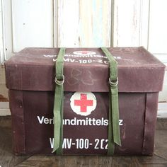 East German Army Medical Chest. Great for storage!