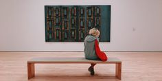 Where the Seats Have No Name: In Defense of Museum Benches – American Alliance of Museums Van Gogh, Jüdisches Museum, Marketing En Internet, Cleveland Art, Person Sitting, Museum Of Fine Arts, Pictures To Paint, Woman Painting, Art Therapy