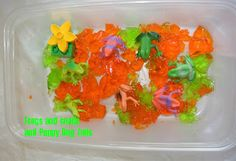 Frogs and Snails and Puppy Dog Tails: Messy Jello Fun!!!!!