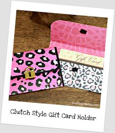Crafting Rebellion: Clutch Style Gift Card Holder