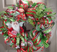 Santa Elf Christmas Wreath from Over The Top Wreaths