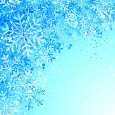 Snow flakes blue