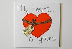 Valentine Handmade Greeting Card - Funny Valentine - Boyfriend Girlfriend romantic Card - personalised valentines card