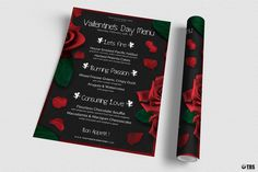 Valentine's Day Menu Template V Free Posters Design For Photoshop with regard to Free Valentine Menu Templates - Professional Templates Ideas Menu Flyer, Party Flyer, Valentines Day Dinner, Valentine Day Cards, Cv Original, Flourless Chocolate, Free Fonts Download, Flyer Template, Menu Templates