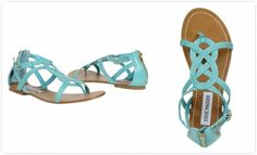 I love this turquoise steve maiden sandals