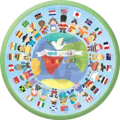 One World to Explore - Global Canvas Rounds   Oopsy daisy