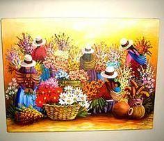 Arte: cuadro florista por joana                                                                                                                                                     Más