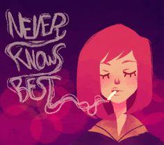Never Knows Best by kaymurph-d3j6jh5. It is a fan-art of Mamimi Samejima of FLCL.
