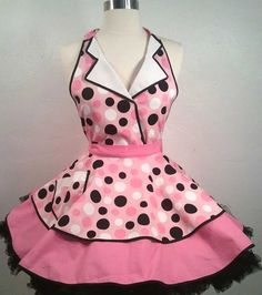 Betty the Car Hop Pin Up Apron Sexy Costume Apron by PickedGreen, $60.00