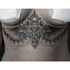 Owl sternum tattoo!