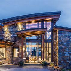Dream house plans, modern house plans, modern house design, mountain home e Dream House Plans, Modern House Plans, Modern House Design, Architecture Design, Modern Architecture House, Modern Exterior, Exterior Design, Stone Exterior, Modern Mountain Home