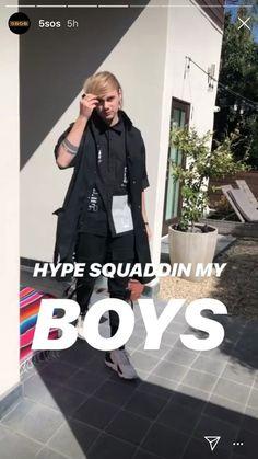 5sos Funny, 5sos Memes, Luke Hemmings, Beautiful Blue Eyes, Beautiful Boys, 5sos Instagram, Instagram Story, Harry Styles, Calum 5sos