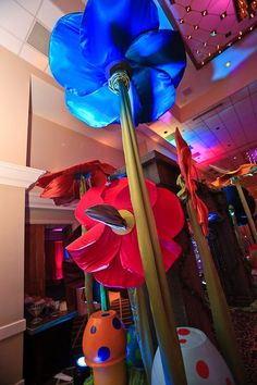 Giant Flowers made from fabrics