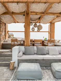 Outdoor Lifestyle : Photos Terrace – Home Decoration Outdoor Seating, Outdoor Rooms, Outdoor Pergola, Diy Pergola, Outdoor Patios, Pergola Canopy, Garden Seating, Outdoor Kitchens, Indoor Outdoor Living