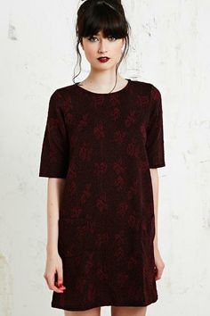 Cooperative Textured Rose Dress at Urban Outfitters
