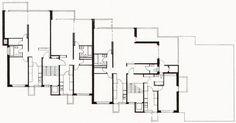 Mehrfamilienhaus Hegibachstrasse, Ernst Gisel, 1960 Floor Plans, Diagram, Flooring, How To Plan, Architecture, Projects, Wood Flooring, Floor, Floor Plan Drawing