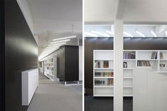 Minimalist office interior makes simple colors comforting yet still professional