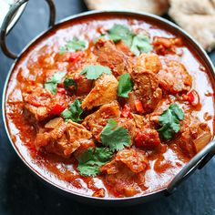 A simple made-from-scratch curry, slow cooked to intensify the heat and flavour.