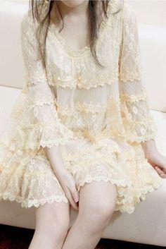 Cute Fashion, Vintage Fashion, French Vanilla, Vanilla Cream, Lacy Tops, Fru Fru, Chantilly Lace, Antique Lace, Mellow Yellow
