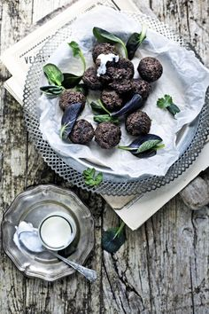 Falafel integral de feijão preto # whole wheat, black bean falafel …
