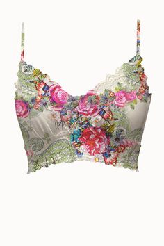 Jardin Adjustable Strap Mesh Bralette *