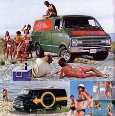 1970s custom van ad