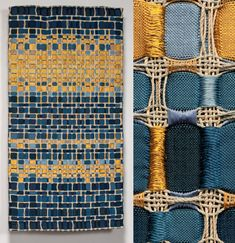 art textile : Eduardo Portillo et Maria Davila, Art Fibres Textiles, Motifs Textiles, Weaving Textiles, Weaving Patterns, Tapestry Weaving, Loom Weaving, Textile Patterns, Techniques Textiles, Weaving Techniques