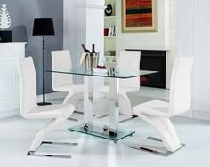 TGC Clear Glass Small Dining Table - 116gbp